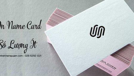 In name card số lượng ít | in  card nhanh lấy liền