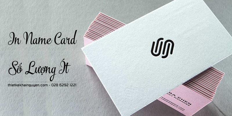 Mẫu in card visit đẹp với phương pháp bồi phủ viền