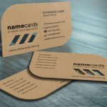Kraft name card die cut