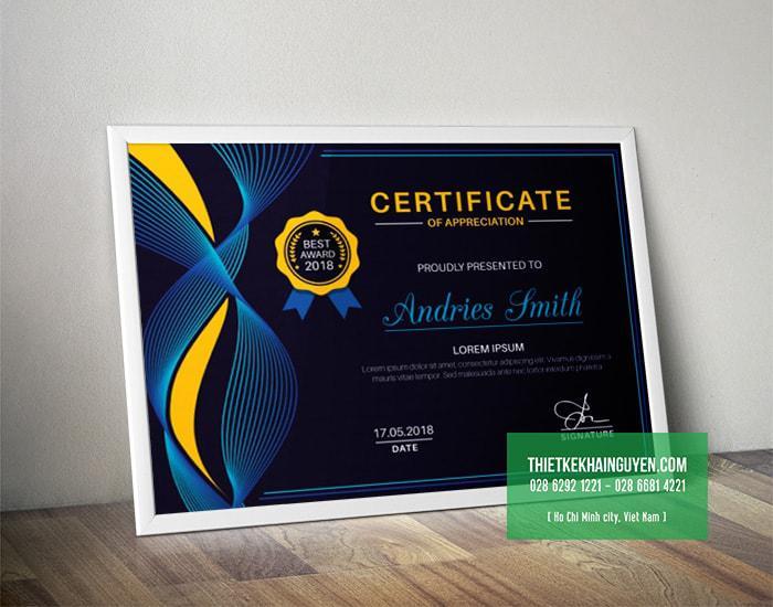Thiết kế bằng khen đẹp - certificate of appreciation