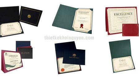 Mẫu bìa giấy chứng nhận bằng giấy đẹp và sang trọng