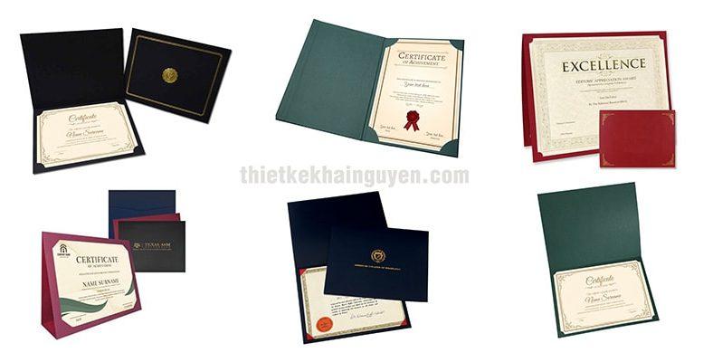 Mẫu bìa giấy chứng nhận đẹp bằng giấy sang chảnh