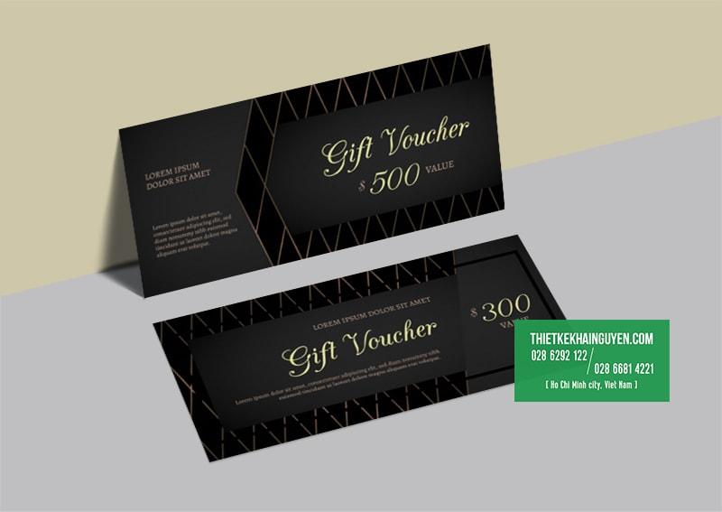 Kiểu thiết kế gift voucher sang trọng