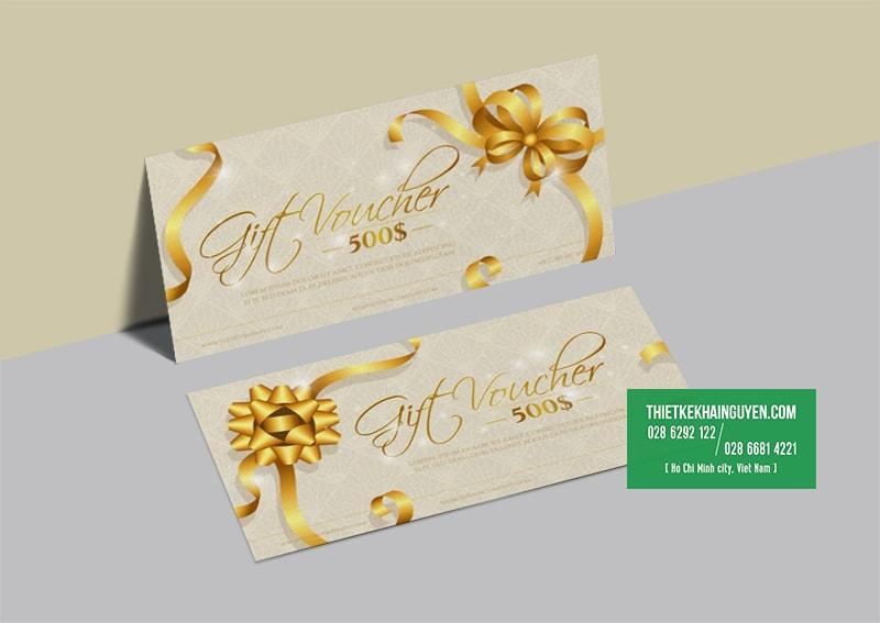 Gift voucher template đẹp cho dịp cuối năm