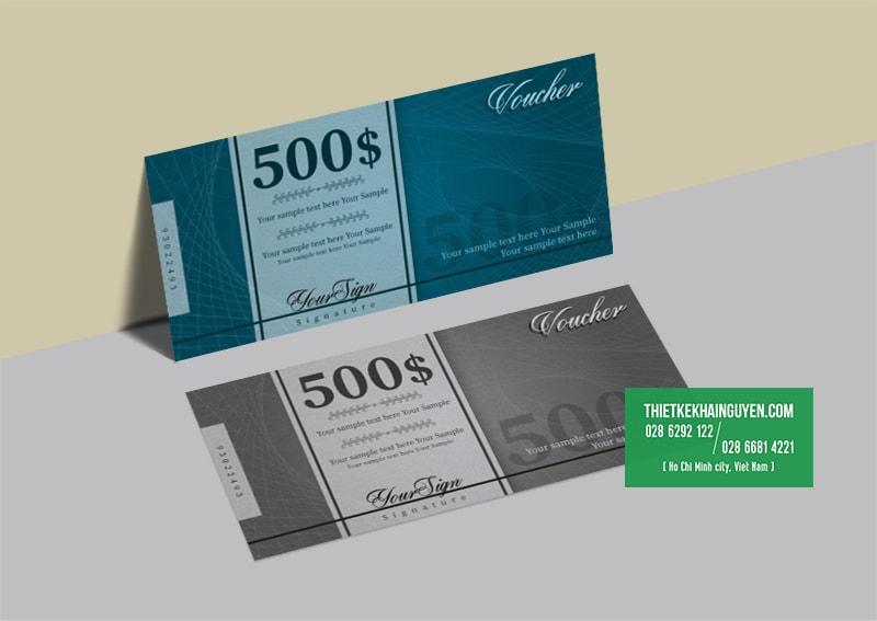 Thiết kế voucher phong cách hiện đại