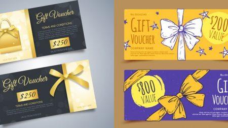 Mẫu gift voucher đẹp cho sự kiện khuyến mãi cuối năm