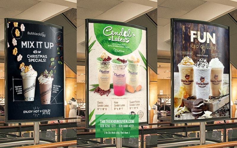 Mẫu poster trà sữa - milk tea shop