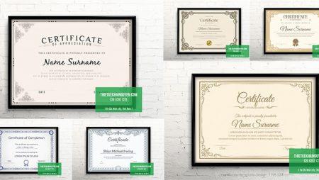 Mẫu thiết kế bằng khen cổ điển – Vintage certificate template