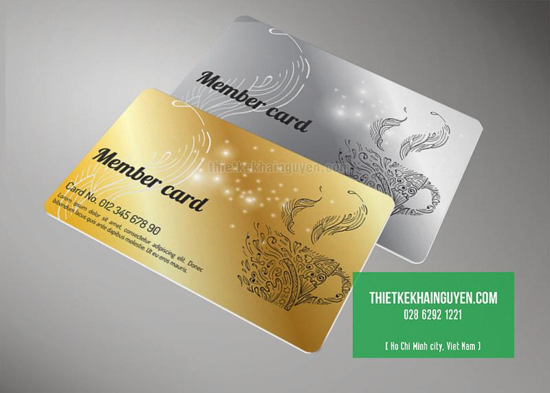 Thiết kế member card cho thương hiệu cafe