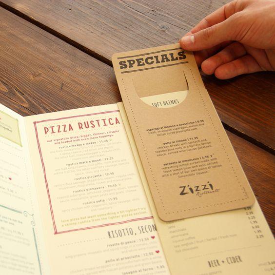 Làm menu kèm theo menu special nho nhỏ
