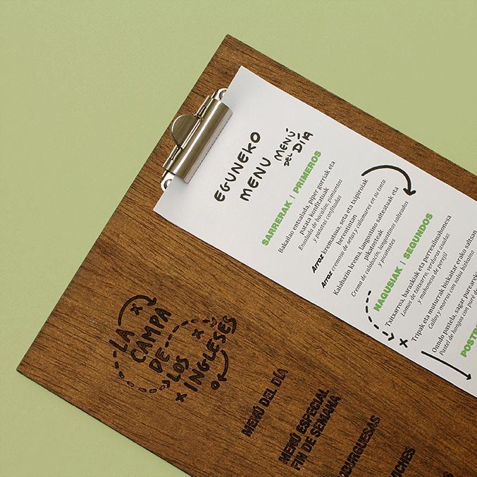 Độc đáo và thú vị với kiểu menu gỗ đặc biệt này