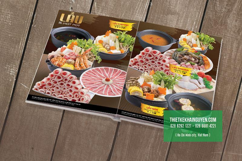 Mẫu menu mở phẳng cho nhà hàng BBQ