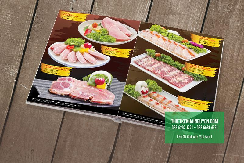 Mẫu thiết kế menu BBQ - menu nướng