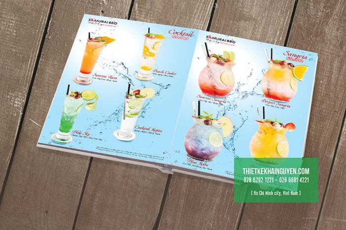 Thiết kế menu nước uống cho nhà hàng BBQ