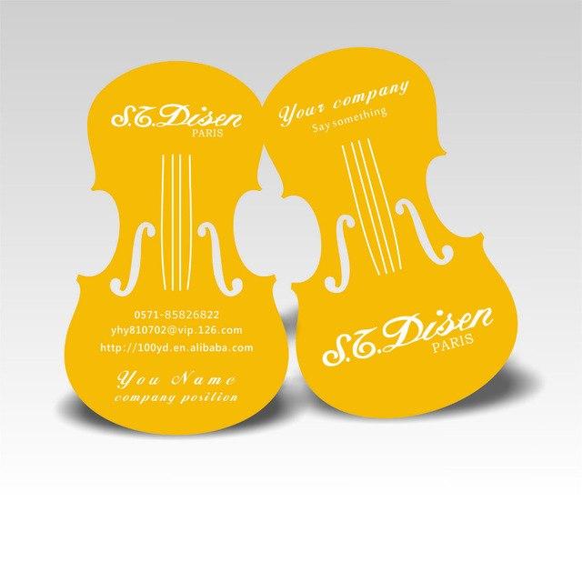 Mẫu name card die cut theo hình guitar