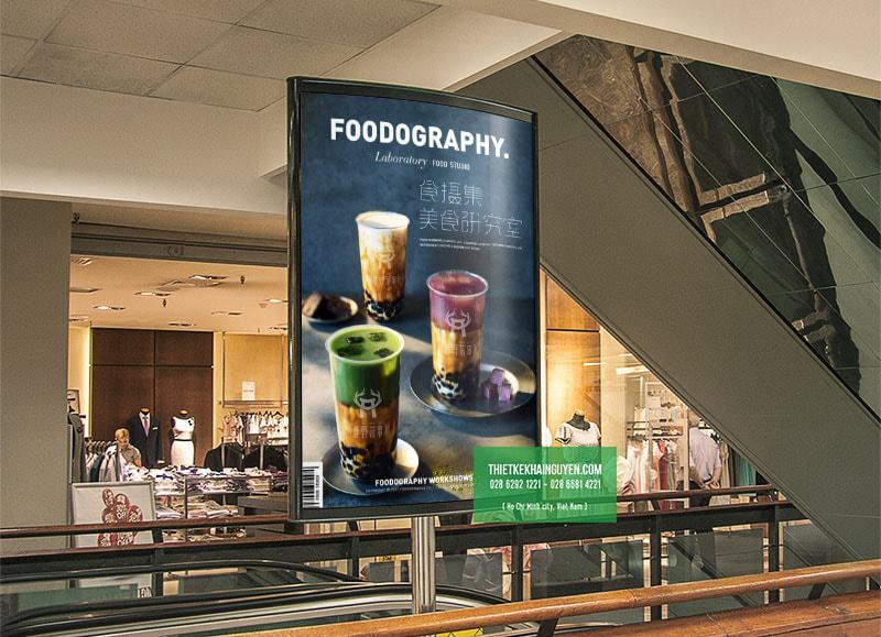 Mẫu thiết kế poster cafe với hình ảnh đẹp lộng lẫy