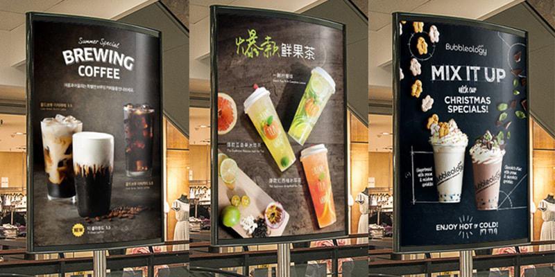 Mẫu poster đẹp - thiết kế poster đẹp cho quán cafe, trà sữa