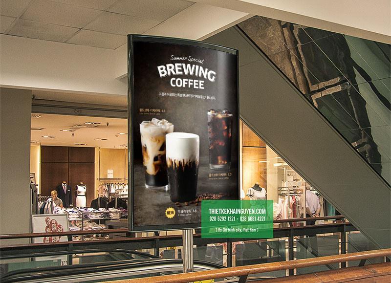 Thiết kế poster đẹp cho quán cafe, với hình chụp xuất sắc