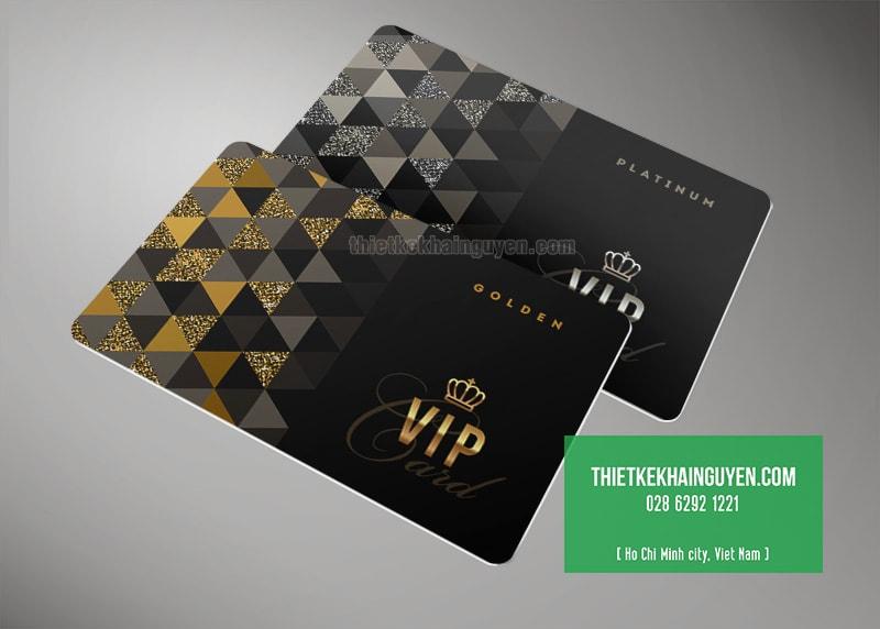 Làm thẻ VIP với tone màu đen huyền bí