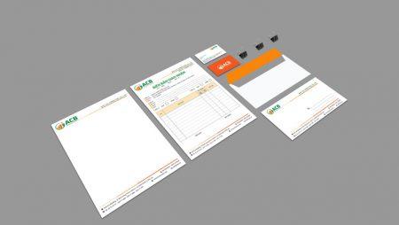 Bộ nhận diện công ty tư vấn thuế ACB – full thiết kế & in ấn