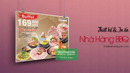 Thiết kế in ấn cho nhà hàng BBQ Nhật – nổi tiếng tại TPHCM