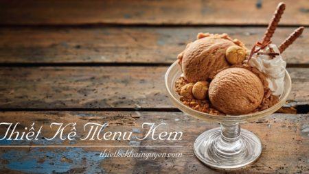 Mẫu thiết kế menu kem – menu bánh được yêu thích nhất năm 2018