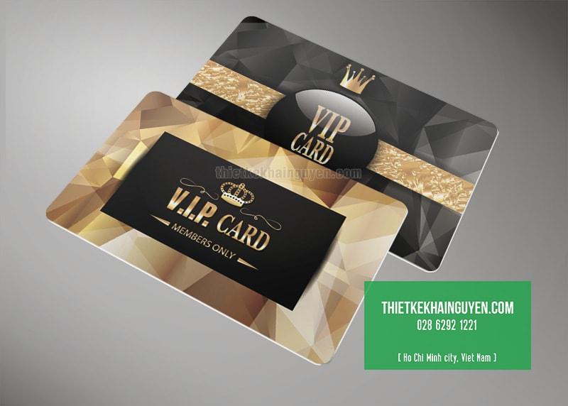Tạo ấn tượng mạnh với kiểu thiết kế thẻ VIP luxury