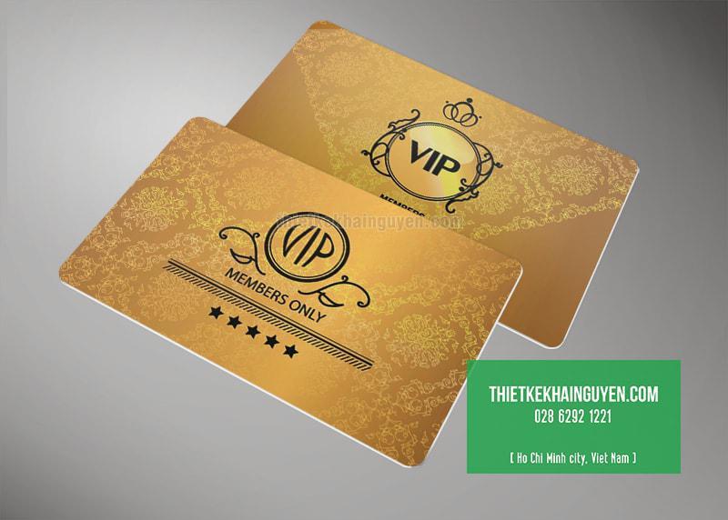 Mẫu thẻ VIP đẹp với màu sắc sang trọng