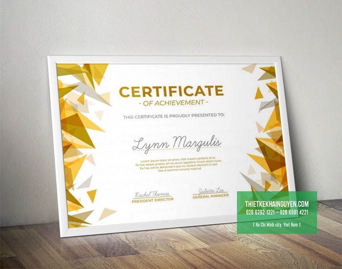 Thiết kế giấy chứng nhận - bằng khen - giấy khen