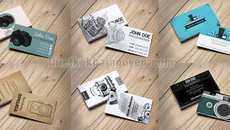 Thiết kế name card camera cực đẹp với 9 template miễn phí