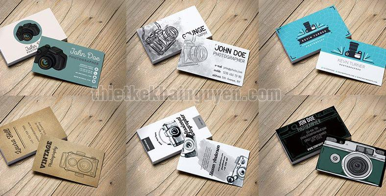 Thiết kế name card - card visit camera đẹp