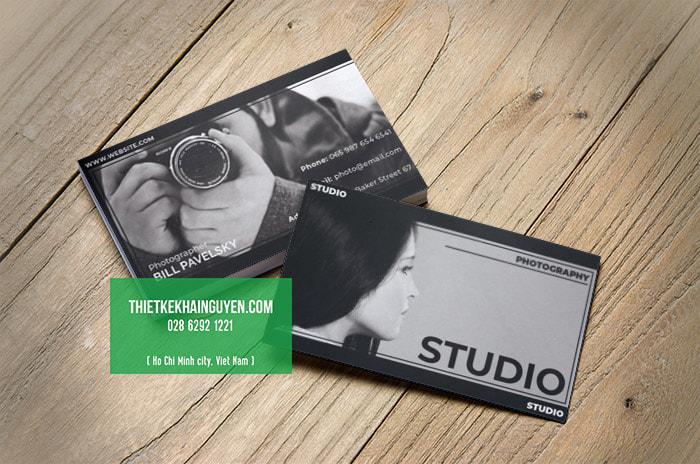 Ý tưởng thiết kế name card cho studio