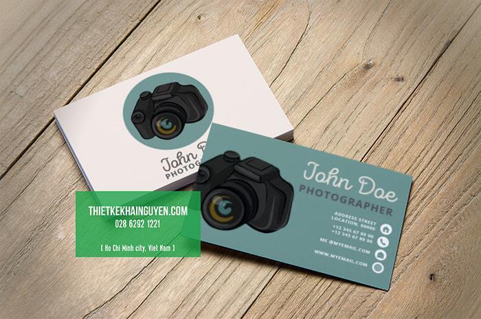 Card visit camera đơn giản nhưng rất thu hút