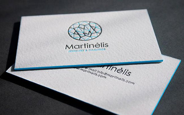 Mẫu card visit viền màu cạnh màu xanh