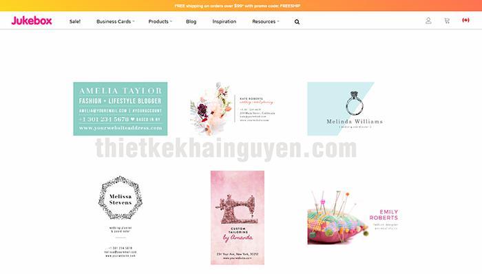 Chọn template có sẵn từ JUKEBOK - website thiết kế card visit online