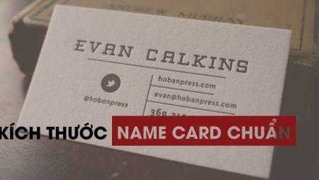 Thông số kích thước name card chuẩn, trên khắp thế giới.