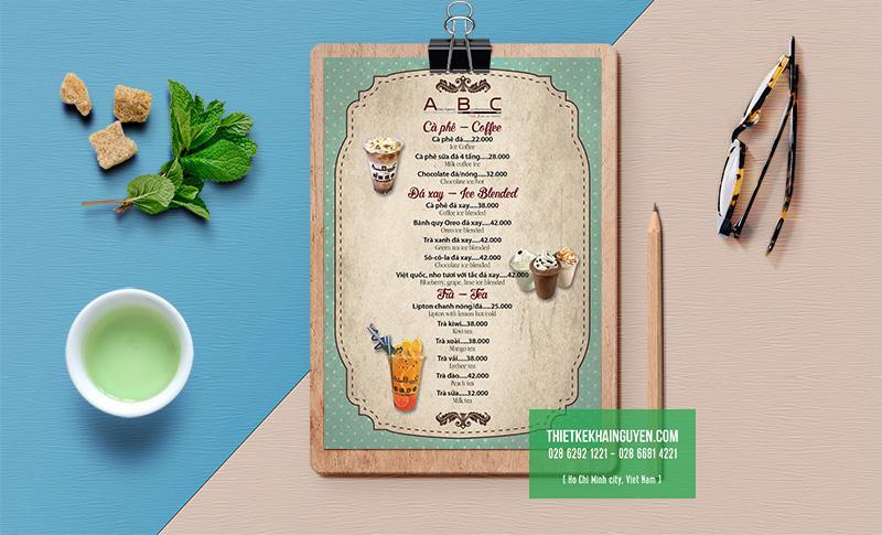 Thiết kế menu quán cafe theo phong cách vintage