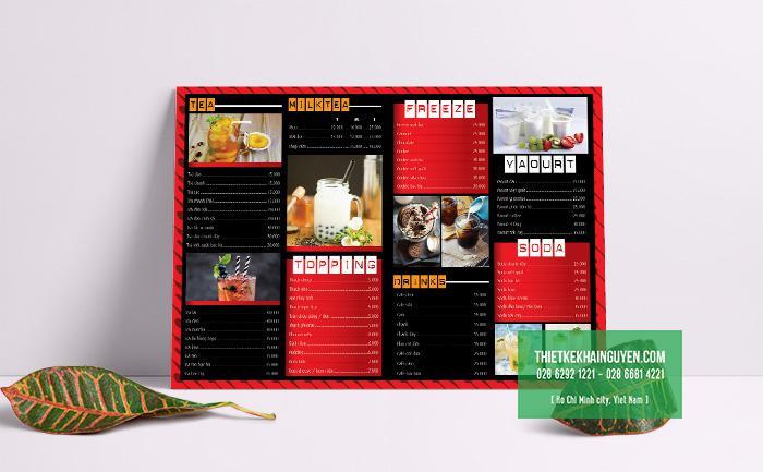 Thiết kế menu MEO DRINK COFFEE - với phong cách hiện đại