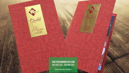 Làm menu bìa còng, thực đơn đóng gáy còng chuẩn đẹp tại TPHCM