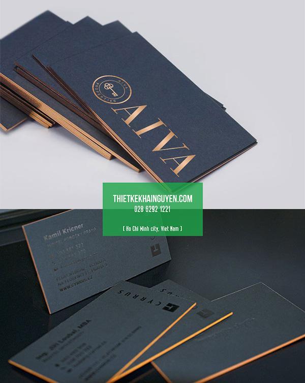 In name card giấy mỹ thuật viền cạnh