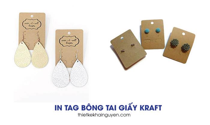 In thẻ treo bông tai với giấy kraft