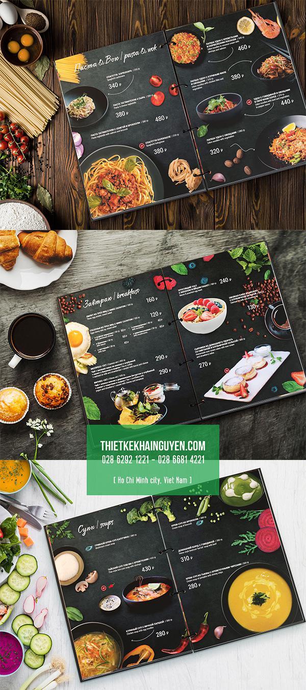 Thiết kế menu - thực đơn nhà hàng đẹp