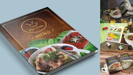 Thiết kế menu phở – thực đơn phở cho những nhà hàng nổi tiếng.