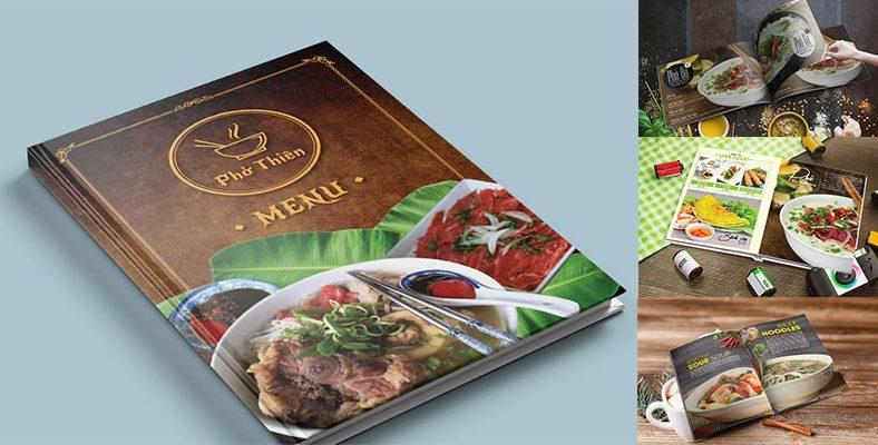 Thiết kế menu phở - menu nhà hàng phở