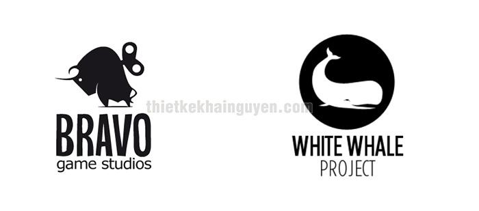 Thiết kế logo đen trắng