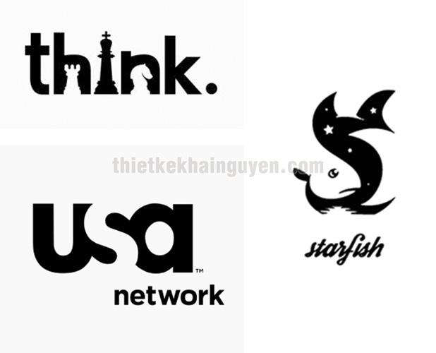 Negative Space logo design - thiết kế logo không gian âm