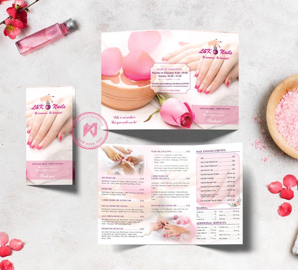 LK Nails Beauty Menu gấp 3