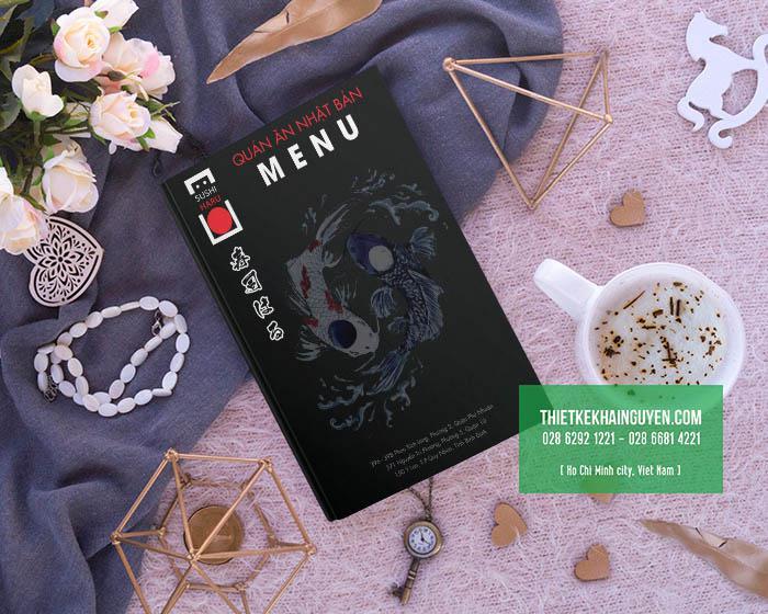 Mẫu bìa menu nhà hàng Nhật Haru