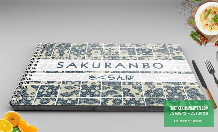 Bìa menu nhà hàng Nhật SAKURANBO
