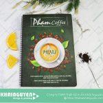 Bìa menu nhựa Phạm Coffee